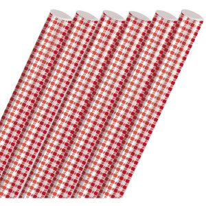 Plastico Para Encapar 2M Xadrez Vermelho 45Cm. Cromus