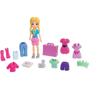 Polly Kit Fashion De Viagem Mattel