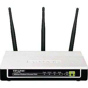 Ponto De Acesso Wireless N 3 Antenas 300 Mbps Tp Link