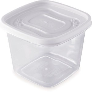 Pote Plastico Clic Pote Quadrado Color 1,2L Plasutil