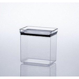 Pote Plastico Hermetic 1.300Ml Lumini Retang Paramount