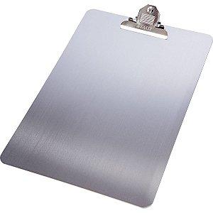 Prancheta Aluminio Oficio C/prendedor De Metal Stalo