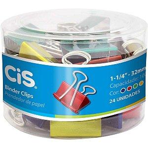 Prendedor De Papel Cis-111001 Binder 32Mm Color Sertic