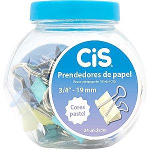 Prendedor De Papel Cis-113119 Binder 19Mm Pastel Sertic