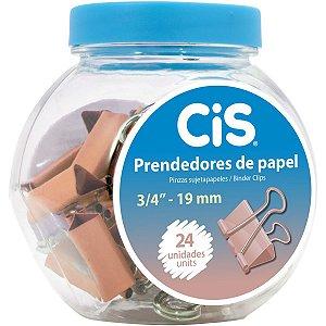 Prendedor De Papel Cis-116119 Binder 19Mm Rose Sertic