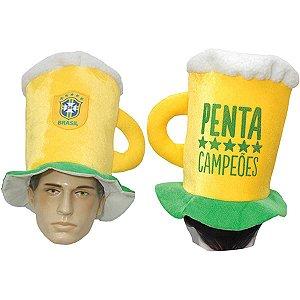 Produto Copa Do Mundo Chapeu Caneca Torcedor Cbf Sor Bem Brasil