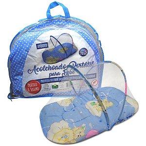 Produto Para Bebe Acolchoado Portatil Azul Pais E Filhos