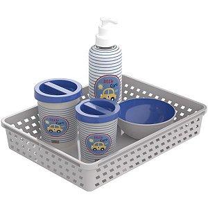 Produto Para Bebe Decorado Carrinhos Kit Higiene Plasutil