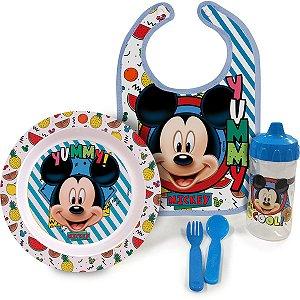 Produto Para Bebe Mickey Baby Prato/talher/copo Babygo