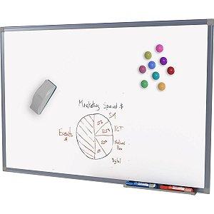 Quadro Aviso Magnetico 150X120Cm. Branco Mold.alumin Stalo