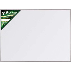 Quadro Branco Moldura Aluminio 100X070Cm Popular Souza