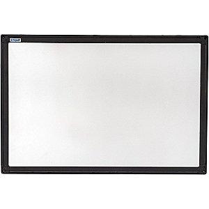 Quadro Branco Moldura Aluminio 90X60Cm Uv Aluminio Preto Stalo