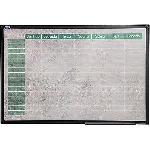 Quadro Branco Moldura Aluminio Planner Color 90X60Cm Stalo