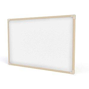 Quadro Branco Moldura Madeira 090X060Cm Neo Stalo