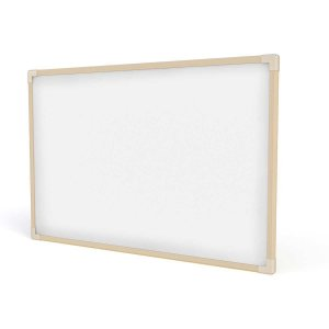 Quadro Branco Moldura Madeira 100X070Cm Neo Stalo