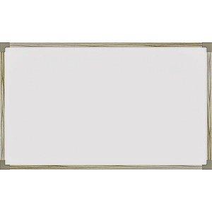 Quadro Branco Moldura Madeira 150X120Cm. Uv Mdf Stalo