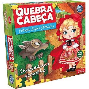 Quebra-Cabeca Cartonado Chapeuzinho Vermelho 80Pcs Pais E Filhos