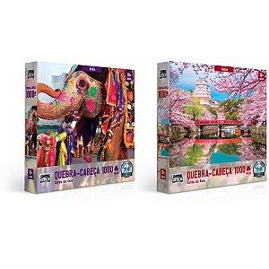 Quebra-Cabeca Cartonado Cores Da Asia 1000Pcs Toyster
