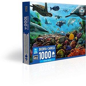 Quebra-Cabeca Cartonado Criaturas Marinhas 1000Pcs Toyster