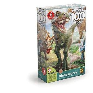 Quebra-Cabeca Cartonado Dinossauro 100 Pcs Grow