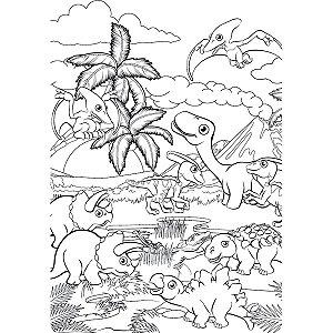 Quebra-Cabeca Cartonado Dinossauro Monte E Pinte 24Pcs Pais E Filhos