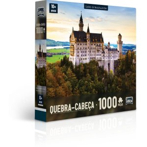 Quebra-Cabeca Cartonado Grande Palacio E Castelo 1000P Toyster