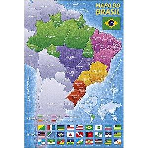 Quebra-Cabeca Cartonado Mapa Do Brasil 200 Pecas Grow