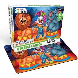 Quebra-Cabeca Cartonado O Circo 100 Pecas Pais E Filhos