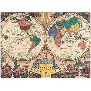 Quebra-Cabeca Cartonado O Novo Mapa Do Mundo 1000 Pcs Toyster
