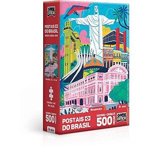 Quebra-Cabeca Cartonado Postais Brasil Monumentos 500P Toyster