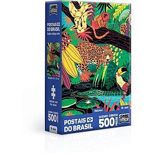 Quebra-Cabeca Cartonado Postais Brasil Natureza 500P N Toyster