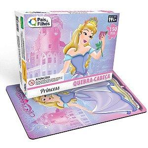 Quebra-Cabeca Cartonado Princesas 150 Pecas Pais E Filhos