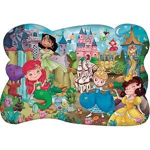 Quebra-Cabeca Cartonado Princesas Gigante 28 Pecas Pais E Filhos