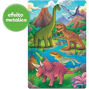 Quebra-Cabeca Cartonado Reino Dos Dinos 100 Pecas Toyster