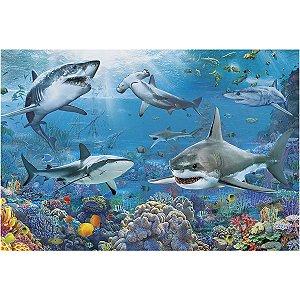 Quebra-Cabeca Cartonado Tubaroes 150 Pecas Grow