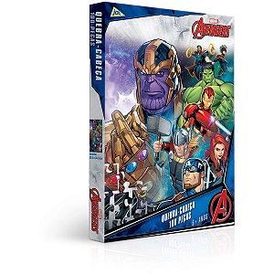 Quebra-Cabeca Cartonado Vingadores 100Pcs Toyster