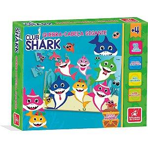 Quebra-Cabeca Madeira Club Shark Gigante 48Pcs Brinc. De Crianca