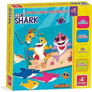 Quebra-Cabeca Madeira Club Shark Progressivo Brinc. De Crianca