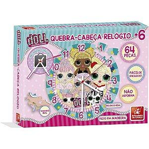 Quebra-Cabeca Madeira Doll Relogio 64 Pecas Brinc. De Crianca