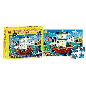 Quebra-Cabeca Madeira Navio Pirata Magico 48 Pecas Brinc. De Crianca