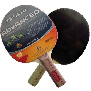 Raquete Para Ping Pong Borracha Lisa C/ Espuma Poker