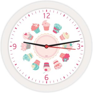 Relogio De Parede Redondo Mini Cupcakes Bco 21,7 Bell´s