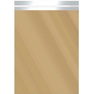 Saco Adesivado Metalizado Ouro 20X27+3Cm Aba Packpel