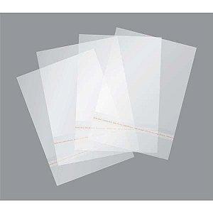 Saco Adesivado Transparente 15X30Cm+3Cm Aba Gala
