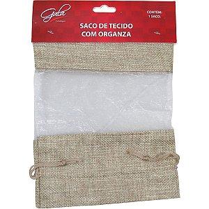 Saco De Organza Juta C/organza 16X23Cm. Gala