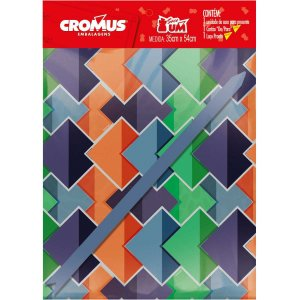 Saco Metalizado 35X55Cm Casual C/saco+Laco+Cartao Cromus