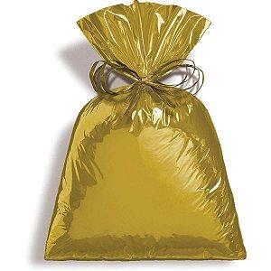 Saco Metalizado 45X60Cm Dourado Cromus
