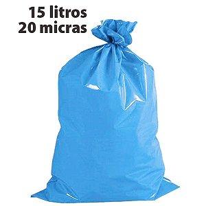 Saco Para Lixo 015L Azul 20 Micras Altaplast