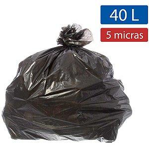 Saco Para Lixo 040L Preto 55X59Cm 5Micras Ecoplan