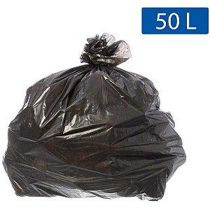 Saco Para Lixo 050L Preto 63X80Cm Ecoplan